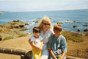 Me with my boys in Cambria, California sometime in the early 90s