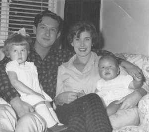 Happy Family 1961 Me on Dad's lap, Mum & Brother (c) Sherri Matthews 2013