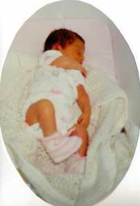 Newborn Baby Daughter 16 August 1992 (c) copyright Sherri Matthews