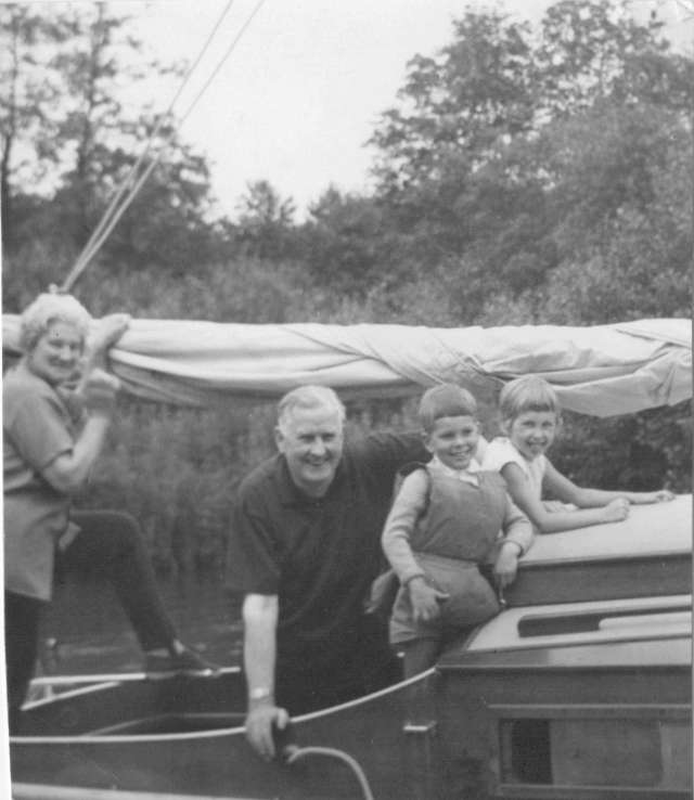 Me, my brother and grandparents Norfolk Broads 1960s (c) copyright Sherri Matthews 2014