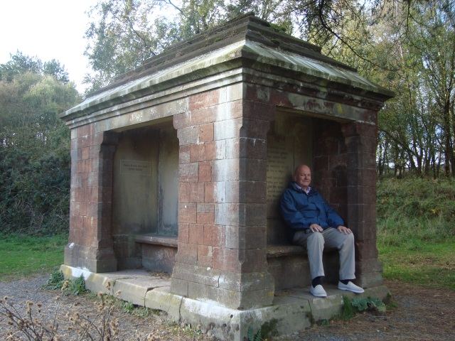 Stone Monument built in 1879 Selworthy Woods, Quantock Hills, Somerset (c) copyright Sherri Matthews 2013