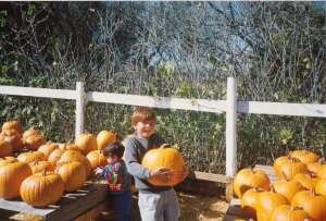 My boys at the Pumpkin Patch, California (c) copyright Sherri Matthews  2013