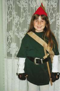 Daughter as Link, not Robin Hood! 1998 (c) Sherri Matthews 2013