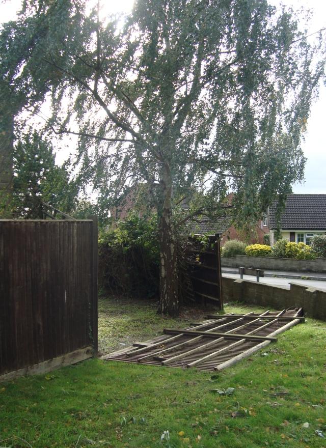 Broken fence (c) copyright Sherri Matthews 2013