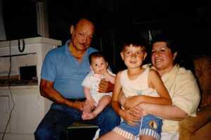 Grandpa and 'crazy' Grandma with the boys - Los Angeles, 1989 (c) Sherri Matthews