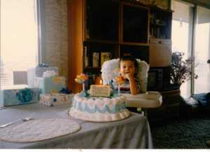 Nicky's First Birthday November 29, 1989 (c) Sherri Matthews