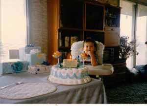 Nicky's First Birthday November 29, 1989 (c) Sherri Matthews