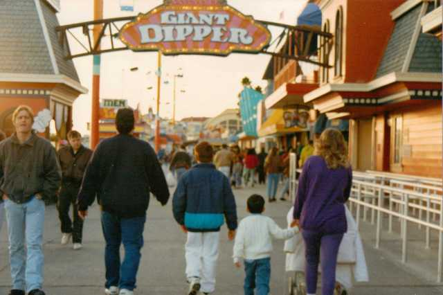 My Family on The Boardwalk in Santa Cruz 1992 (c) Sherri Matthews 2014