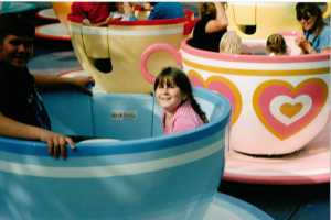 My daughter and big brother on the Teacups at 1990s (c) Sherri Matthews 2104)