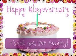 One Year Blogging Anniversary Image