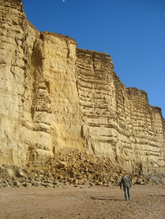 Storm damage to cliff face, West Bay (c) Sherri Matthews 2014