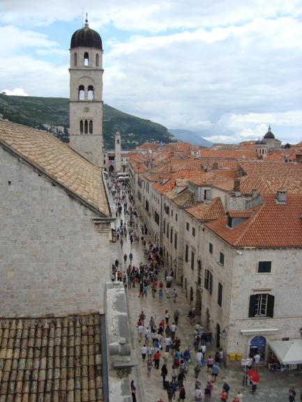 View of the streets below from the Old City Walls, Dubrovnik (c) Sherri Matthews 2014