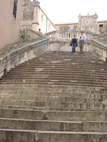 Steps leading up to a church