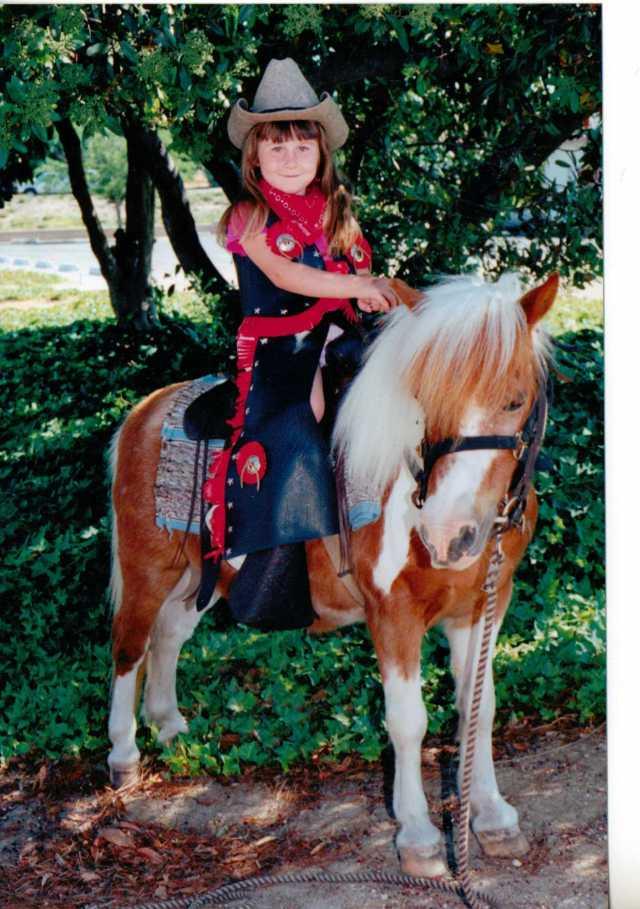 Aspie D - horse riding American Style 1990's (c) Sherri Matthews 2014