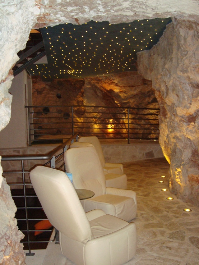 Room in a cave.  Lapad, Croatia.  What secrets did this cave hold long before it was turned into a bar? (c) copyright Sherri Matthews 2014