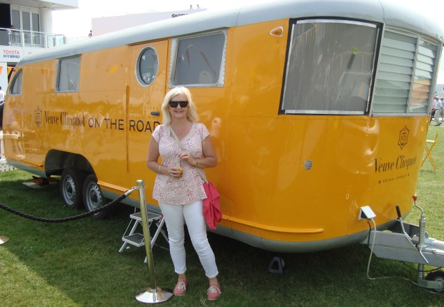 A Vintage Airstream filled with French Champagne.  Voila! (c) Sherri Matthews 2014