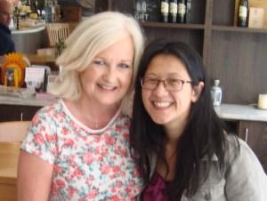 Denise & Sherri in coffee shop (C) copyright Sherri Matthews 2014