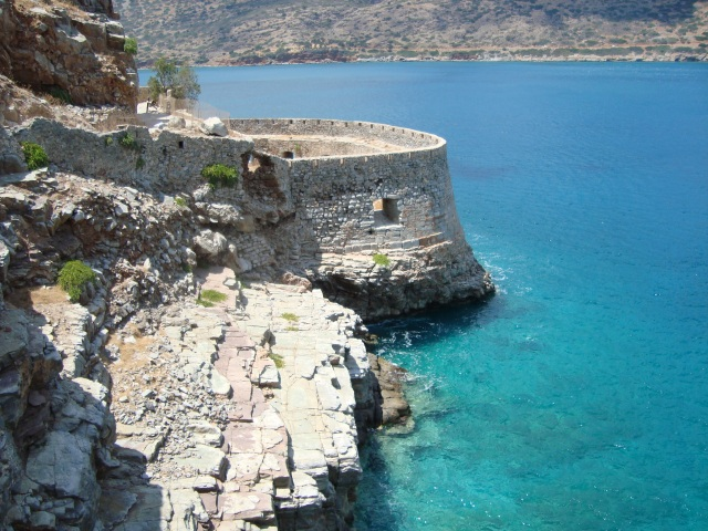 View from the top of Spinalonga, Crete 2008 (c) Sherri Matthews 2014