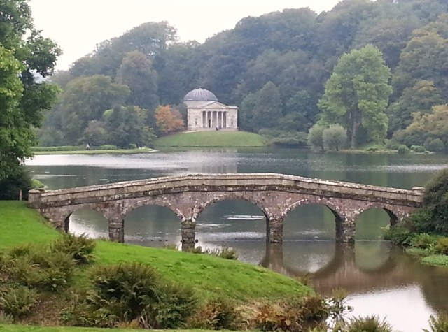 Whatever the view, we have to keep our vision alive.   View of The Pantheon and Bridge at Stourhead Gardens. (c) Sherri Matthews 2014