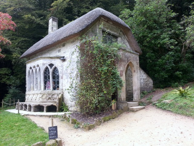 If not a cottage by the sea, then how about the Gothic Cottage at Stourhead? It even has a fireplace for those crisp, winter mornings... (c) Sherri Matthews 2014
