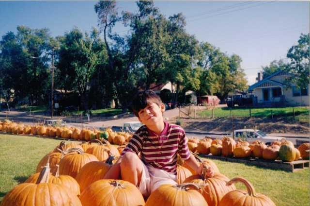 Nicky at the Pumpkin Farm Paso Robles