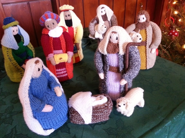 "Knitted Christmas Nativity, Cheap Street Church, Sherborne But the angel said to them,  ""Do not be afraid. I bring you good news that will cause great joy for all the people.""' (c) Sherri Matthews 2014"