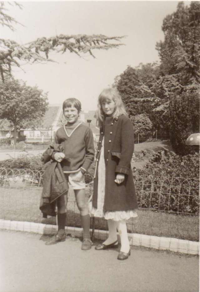 Looking the Part. In Belgium, 1974, Brother and Sister (c) Sherri Matthews