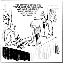 Backup cartoon