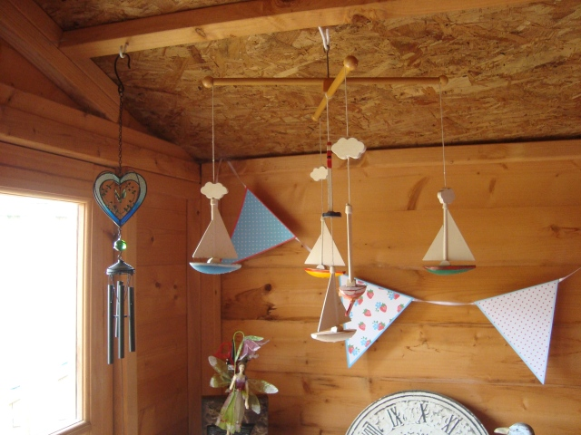 Mobiles, chines, bunting...yes, I love all that! (c) Sherri Matthews 2015