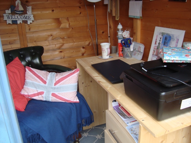 My Summerhouse - This is where I write (c) Sherri Matthews 2015