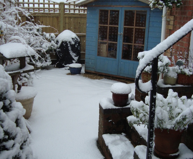 Summerhouse in  Snow (c) Sherri Matthews 2013