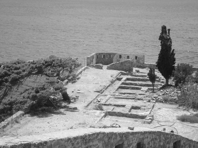 Ruins of Spinalonga, overlooking the sea. Crete 2012 (c) Sherri Matthews