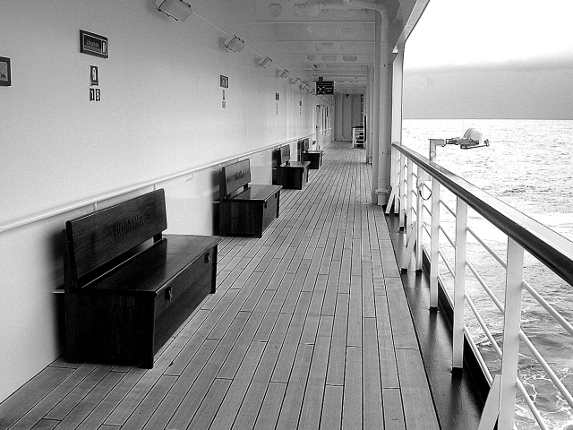 View of Starboard Deck onboard the Arcadia Cruise Ship somewhere in the Caribbean (c) Sherri Matthews