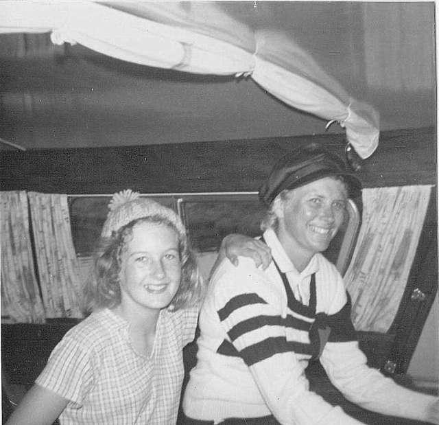 Me & Mum, Norfolk Broads, 1970s (c) Sherri Matthews