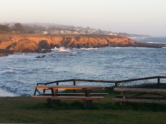 View of Moonstone Beach, Cambria, Central Coast of California April 2013 Special memories of this place... (c) Sherri Matthews