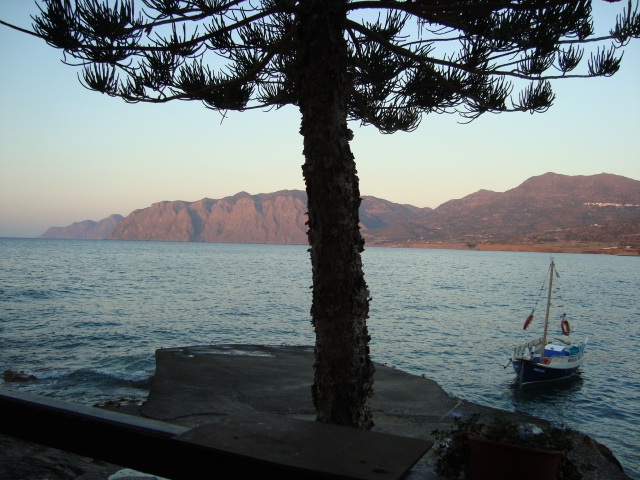 View of the Libyan Sea from a Taverna at Mochlos, Crete (c) Sherri Matthews 2015