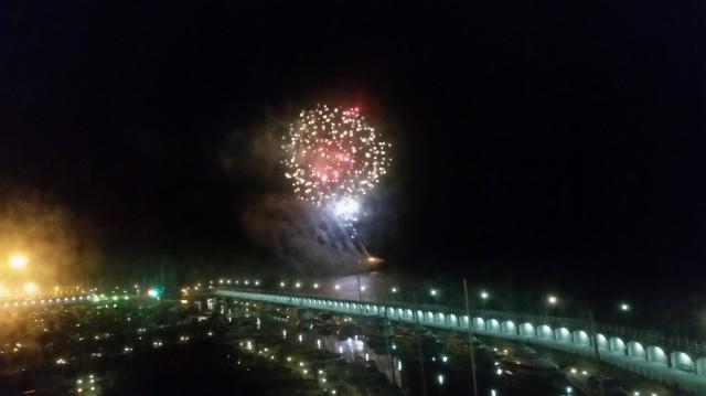 Fireworks from Elizabeth Castle (c) Sherri Matthews 2015