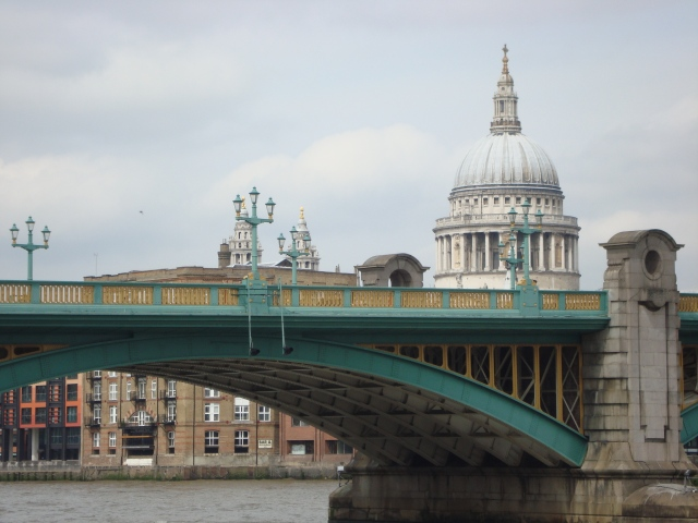 View of St Paul's Cathedral from Southwark Bridge (c) Sherri Matthews April 2015