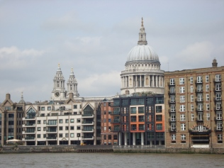 St Paul's Cathedral from Thames Embankement