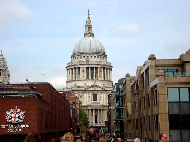 View of St Paul's Cathedral approaching from The Millenium Bridge (c) Sherri Matthews April 2015