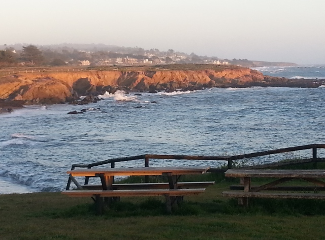View of Moonstone Beach, Cambria, California, April 2013 (c) Sherri Matthews