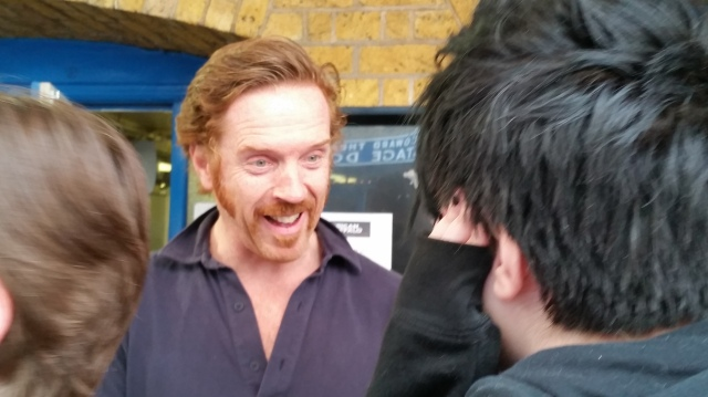 Aspie D can't believe she is face to face with Damian Lewis (c) Sherri Matthews June 2015