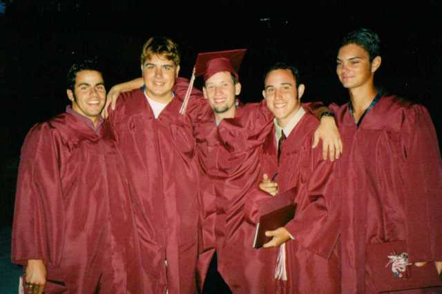 High School Graduation, Paso Robles, California (Son second from left) June 2001 (c) Sherri Matthews 2015